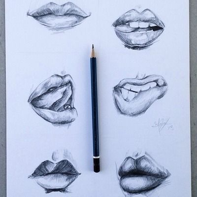how to draw lips tumblr