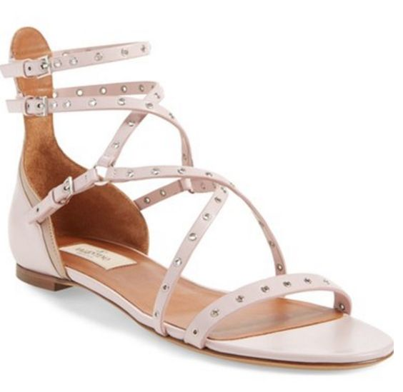 Gorgeous strappy pink Valentino sandals