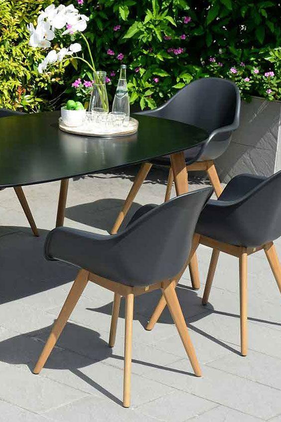 Gartensessel ☀ Diamond Garden Nashville Sessel in Teakholz und - gartenmobel kunststoff design