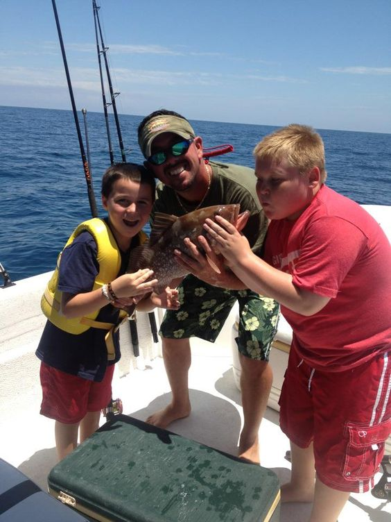 My oldest son Richard fishing with his boys Zack and big boy Ryan