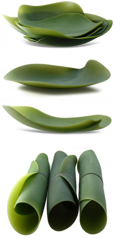 Seasons silicone serving plates by Nao Tamura for Covo: Leaf Plates, Banana Leaves, Perfect Plates, Silicone Plates, Silicon Plates, Plates Perfect