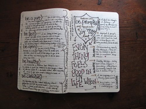 overcoming your journaling fears + other great journaling inspiration links at the bottom of post