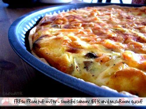 leek and mushroom quiche - Recipe   Gastromomia   Pinterest   Mushroom ...