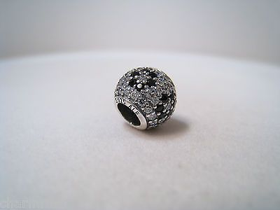 authentic pandora silver charm shimmering blossom black crystal 791170nck authentic black crystal