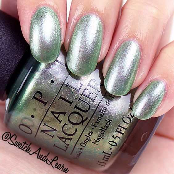 OPI Visions of Georgia Green from the Coca-Cola Collection 2015. (More swatches and photos are on SwatchAndLearn.com.)