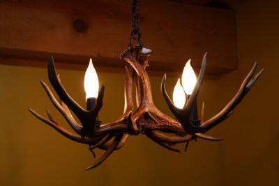 Unique antler chandeliers, antler sconces, antler pendants, antler pot racks, and antler bar lights all made from moose, deer, elk, and caribou antler..
