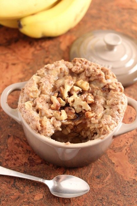 Banana Bread Baked Oatmeal for One