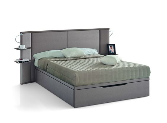 t te de lit concerto avec lit coffre maximo tablettes de. Black Bedroom Furniture Sets. Home Design Ideas