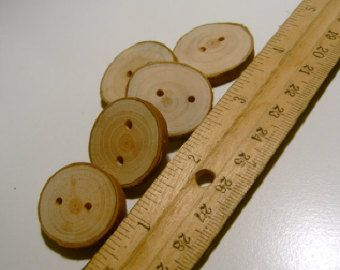 20 Wooden  Buttons Handmade Wooden Tree Branch Slice