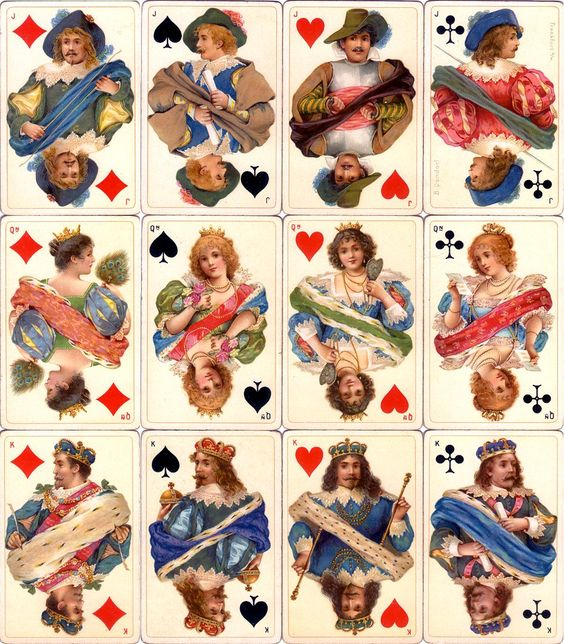 Dondorf's 'Stuart Zeit' No.178 fantasy Stuart period costume playing cards, c.1900: