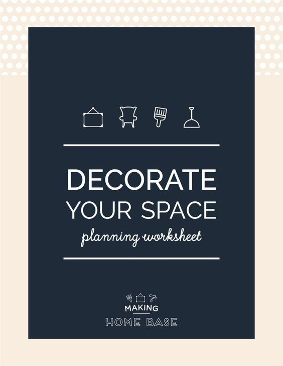 My number one tool for decorating a room from scratch? Having a plan! Here