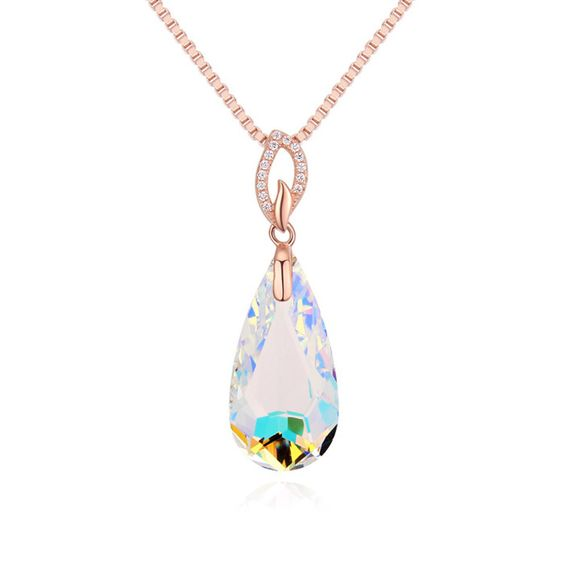 Collar de Elemento de Cristal Swarovski, con plata de ley 925