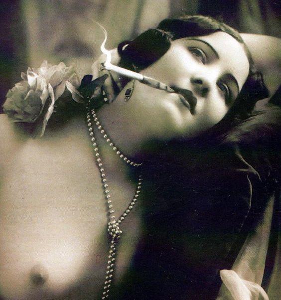 Nana enjoys a smoke afterwards...