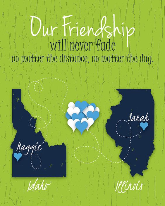 Distance Between Brother And Sister Quotes: Long Distance Friendship Gift Friendship Distance Quote