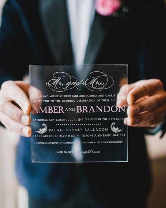 Creative Plexiglass Wedding Invitation for Modern Wedding – Customize Your Wedding Invitations