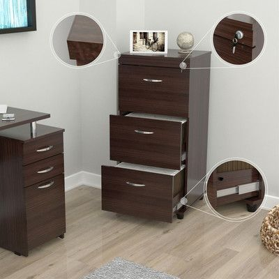 Inval Uffici Commercial 3 Drawer Filing Cabinet