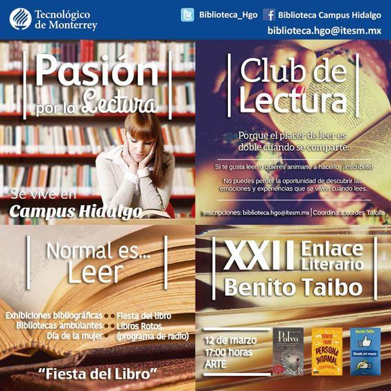 Eventos de la Biblioteca de Campus Hidalgo. Semestre enero-mayo 2014.