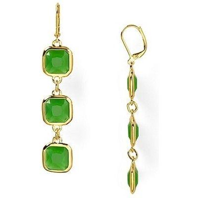 Kate Spade Frame Of Mind Drop Earrings in Emerald