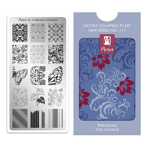 Moyra Mini Stamping Plate 111- Breaking the Silence