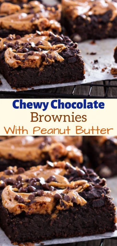 Chewy Chocolate Brownies With Peanut Butter Frosting Allrecipes