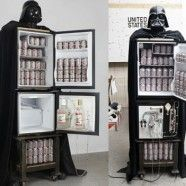 "Refrigerador Darth Vader:  ""May the force be with your beer"""