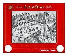 Las Vegas Etch A Sketch Giclee Print