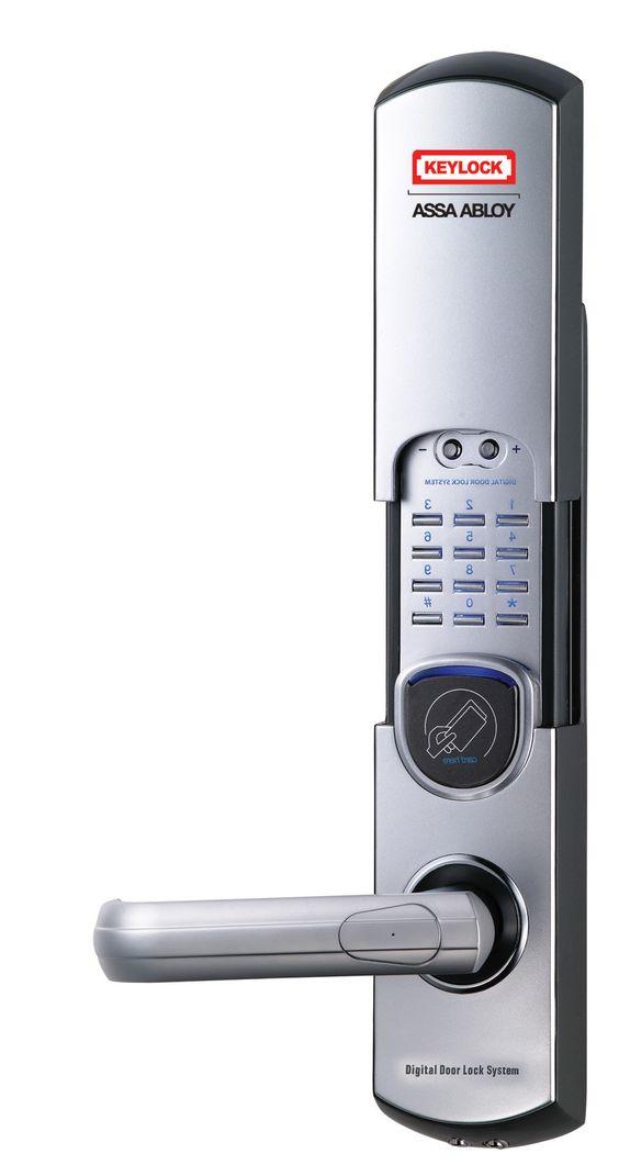 Fingerprint Door Lock 6600 91 Fingerprint Doorlock Door Keypad Satin Chrome Handdoor Electronic Password Diy Security Door Lock System Home Security