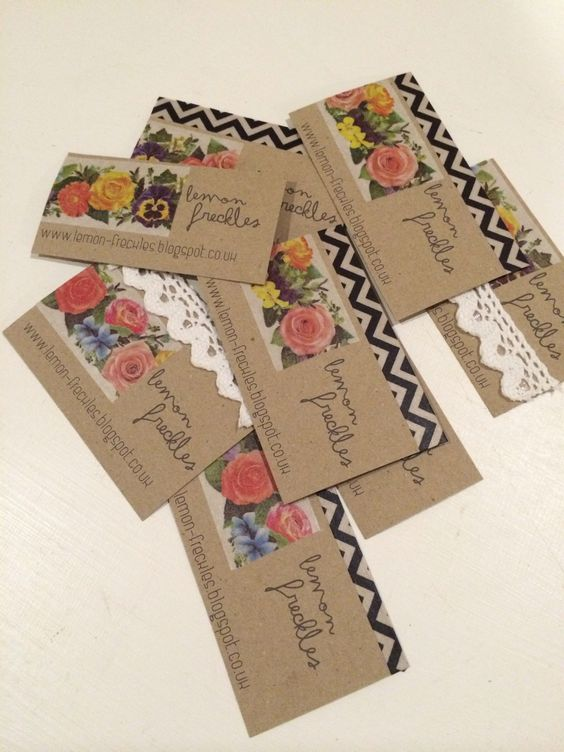 Homemade business cards. | graphics | Pinterest | Homemade ...