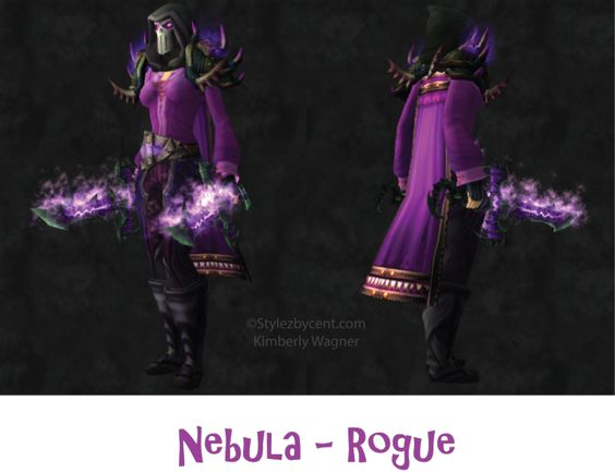 Nebula #rogue #transmog for #worldofwarcraft!  Follow my blog for more unique transmogs stylezbycent.com #wow #warcraft #roleplay  @World of Warcraft Pins