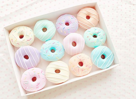 pastel donuts for unicorn party