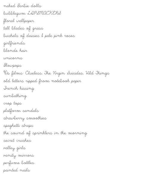 Happy List: Teenage Dream