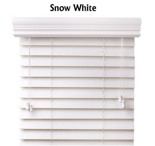 Arlo Blinds Snow White 2 Inches Faux Wood Horizontal Blinds Size 57 5 8 W X 50 H Wood Blinds Horizontal Blinds Faux Wood Blinds