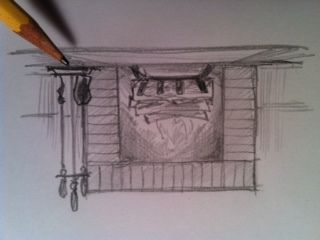 How to draw, Fireplaces and To draw on Pinterest