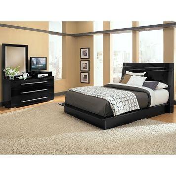 Dimora Black II Bedroom 5 Pc. Queen Bedroom - Value City Furniture ...