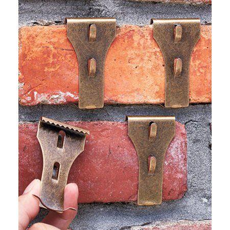 Brick Or Siding Clips Set Of 4 Brick Clip Hooks 2 3 4 X 1 1 2 X 3 8 Walmart Com In 2020 Brick Clips Brick Fireplace Wall Brick Hanger