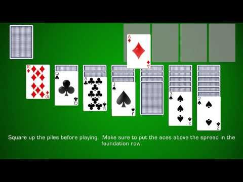 This Guide And Video Will Show You Exactly How To Play Klondike The Original Version Of Solitaire Spa Solitaire Card Game Single Player Card Games Card Games