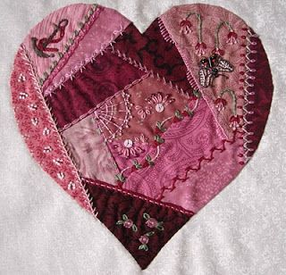 Season's from my window: Hearts and Crazy Quilting (CQ)