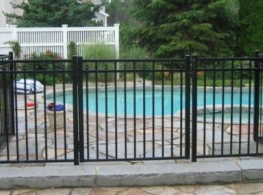 Inexpensive Metal Pool Fence Prices and iron pool fence
