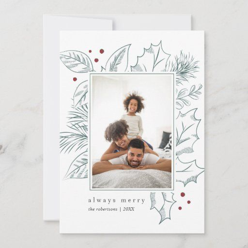Front Back Photo Holiday Card