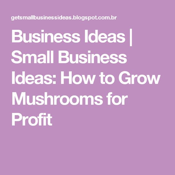 Business Ideas | Small Business Ideas: How to Grow Mushrooms for Profit