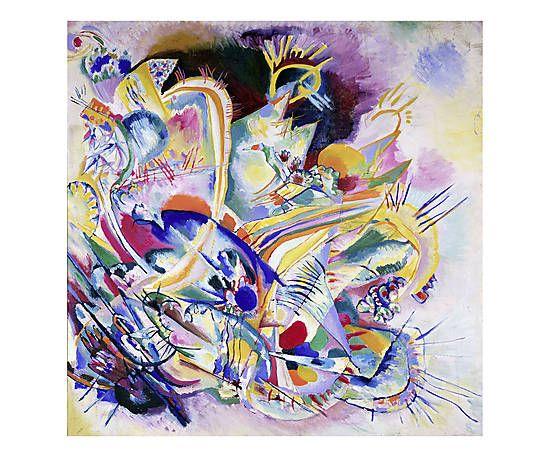 Stampa fine art su canvas Improvisation Painting - 70x70x4 cm