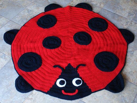 Crochet Ladybird Rugs: