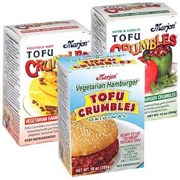 Marjon Tofu Crumbles are the best! And I know the owner :):)