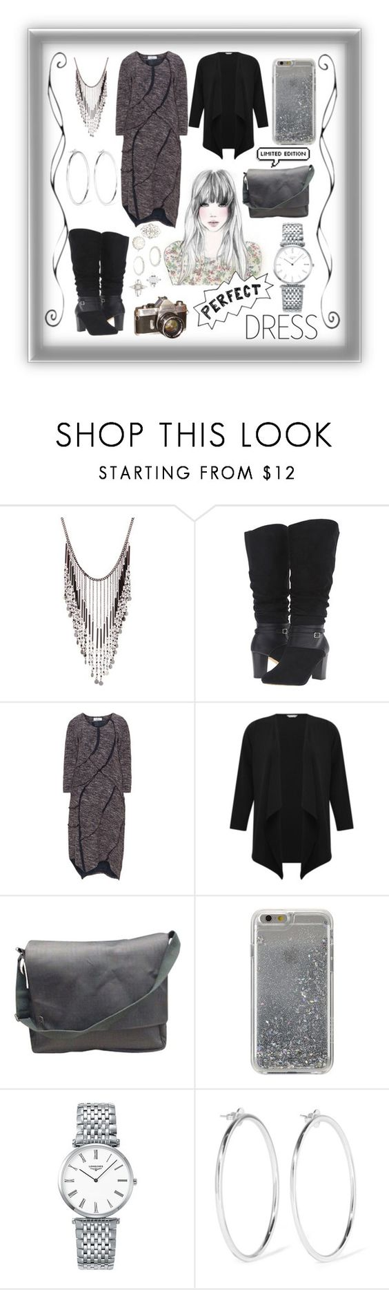 """""""Winter dress"""" by jumainakmir ❤ liked on Polyvore featuring GE, Stephan & Co., Bella-Vita, Inca, M&Co, Burberry, Agent 18, Longines, Jennifer Fisher and Charlotte Russe"""