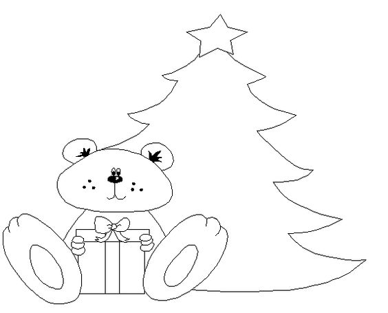 handembroidery christmas bear patteren | Monograms for Hand Embroidery