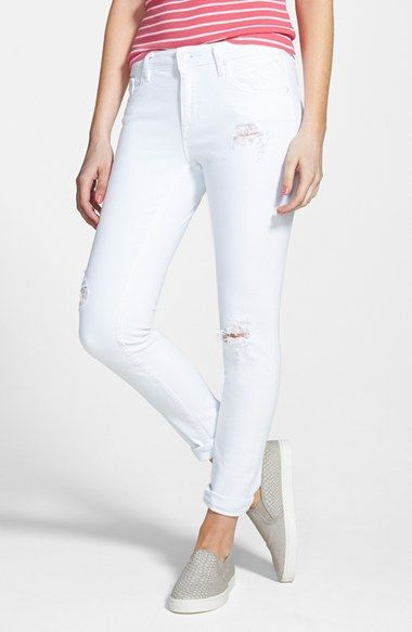 Free shipping and returns on Vigoss &39Tomboy&39 Destroyed Crop Skinny