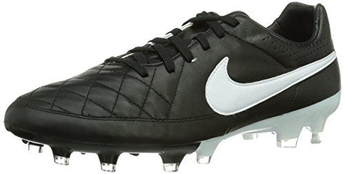 Tiempo Genio II Fg, Chaussures de Football homme, Noir (Black/White-Metallic Gold 010), 40 EUNike
