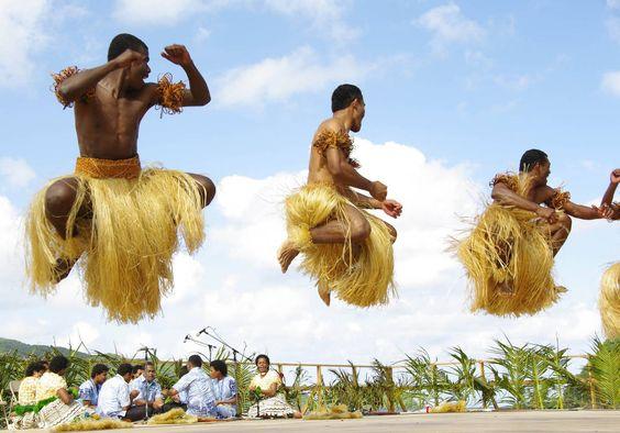 Des danseurs, à l'occasion du dixième festival des arts du Pacifique.