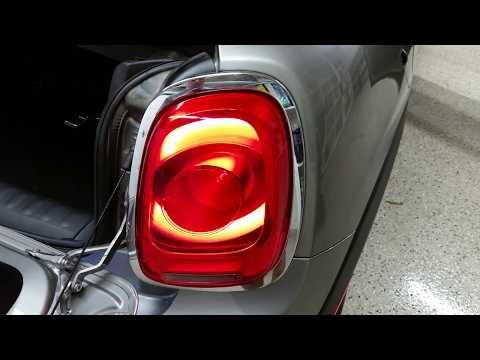 2014 2020 Mini Cooper Hatch Testing Tail Lights After Changing Burnt Out Light Bulb Youtube Mini Cooper Bulb Tail Light