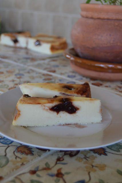 Mi taller de cocina: Tarta de yogur y queso con mermelada